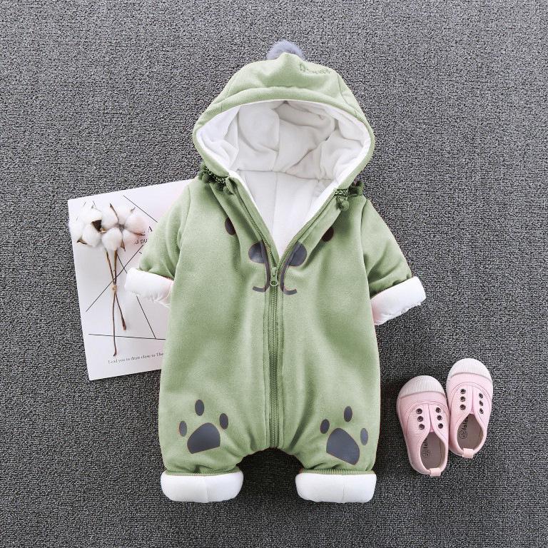 婴童棉袄男女宝宝连体冬季加厚儿童连体棉衣婴儿外出服春夹棉服