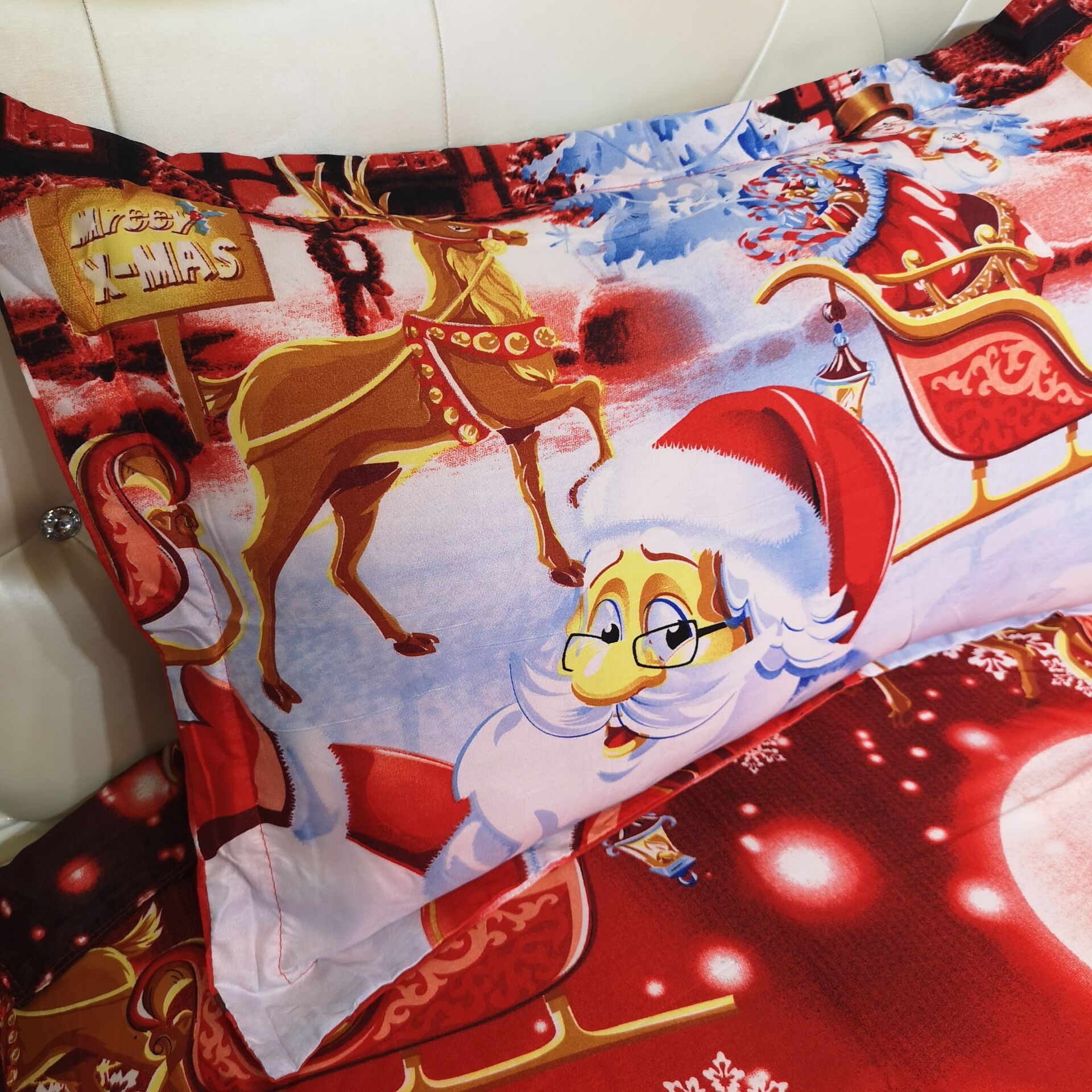 Home textile Christmas holiday atmosphere is set of three sets of four sets of home textiles NHSP174171