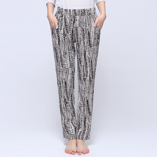 Clearance price ladies loose summer and autumn thin harem cropped pants breathable selected cotton and linen breathable fabric pants