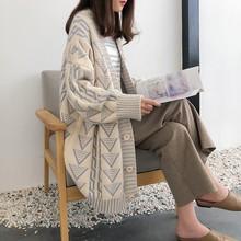 很仙的毛衣开衫女2019秋装新款中长款宽松洋气针织外套加厚