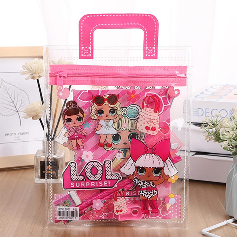Творческий приятно удивлен кукла портативный PVC ребенок канцтовары установите студент изучение статьи рождество подарок оптовая торговля
