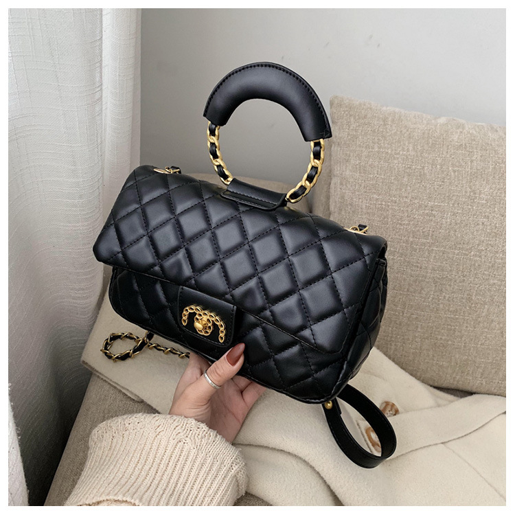 New fashion rhombus chain ring handbag shoulder messenger small square bag NHPB196910