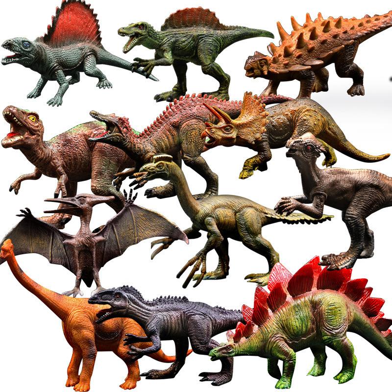 亚马逊热卖仿真动物 模型恐龙玩具 霸王龙翼龙模型实心小恐龙套装