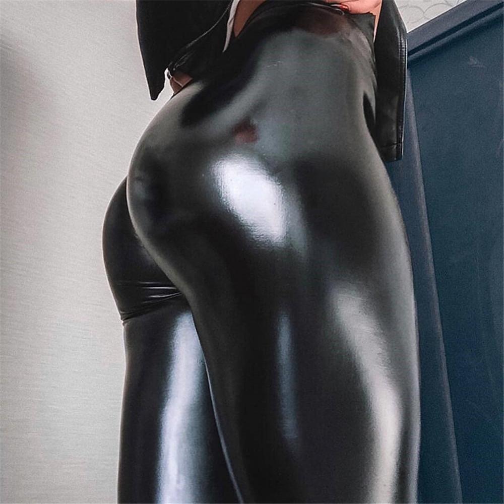 加大碼PU皮褲女 wish跨境電商爆款 高腰打底褲女超彈力跨境熱賣