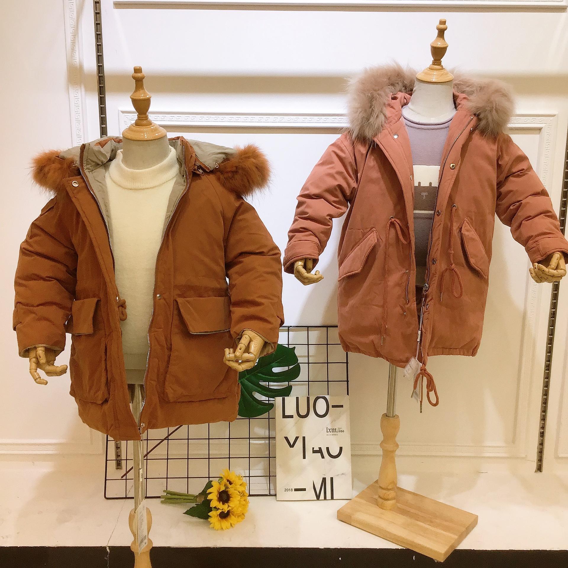许小x拉 紫邻童装一线品牌原单尾货女童羽绒服专柜尾单货源折扣