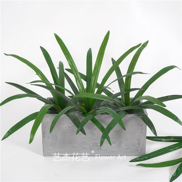 过胶手感大把束仿真兰草绿色仿真植物 植物墙配材 绿植配件