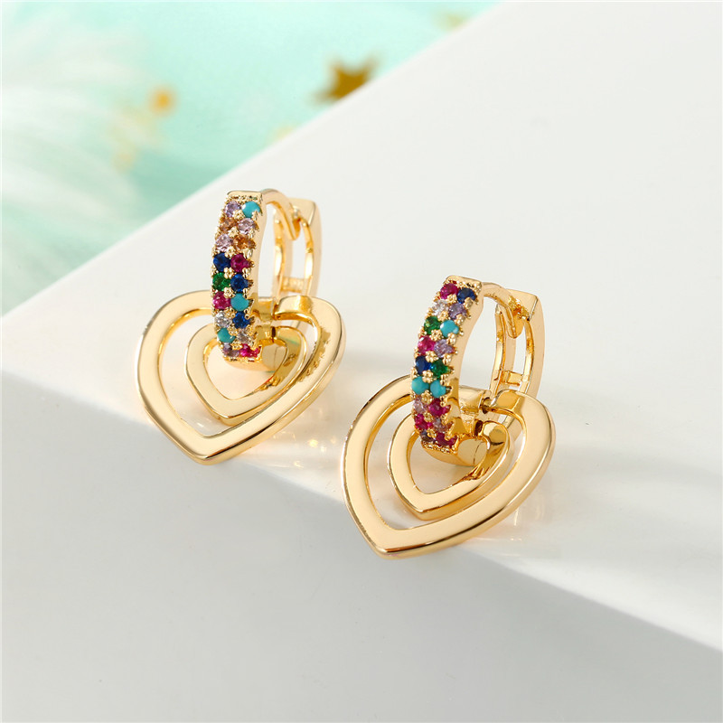 New fashion mini zircon earrings love round earrings unique earrings NHGO186513
