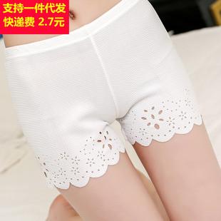 Летом корейский сжигать против цветов опорожняется трети брюки пирсинг безопасности брюки мисс верхняя одежда рейтузы шорты женщины