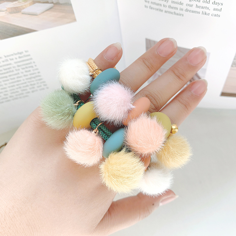Sweet girl hair accessories cute hair ball high elastic hair rope female NHOF175366