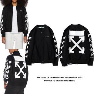 Европа и америка тенденция OFF OW WHITE 19SS фонд бейсбол куртка пальто модельа бейсбол куртка пальто