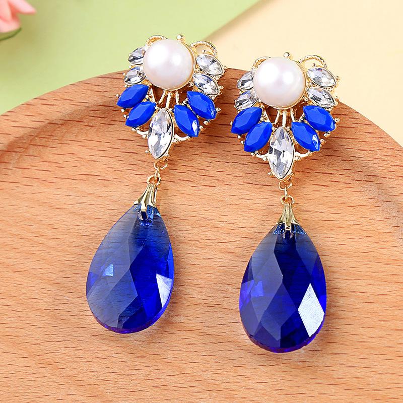 Alloy Fashion Geometric earring  Blue1  Fashion Jewelry NHQD6244Blue1