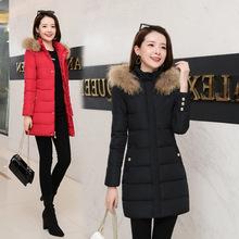工装棉服女冬装中长款2020韩版新款宽松加厚棉袄大毛领收腰棉衣