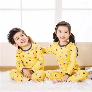 1688 Alibaba 2-12 yuan wholesale go to the market to set up a stall supply plus velvet thickened children's warm clothing suit