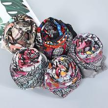 2019歐美新款時尚潮流圍巾 印花多色遮陽長巾 高品質百搭流行披肩