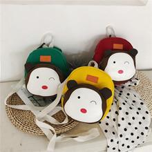 新款韩版儿童书包卡通幼儿园书包可爱防走失带宝宝背包帆布双肩包
