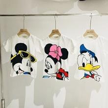 独家自制 定制款男女童可爱卡通印花纯棉短袖T恤