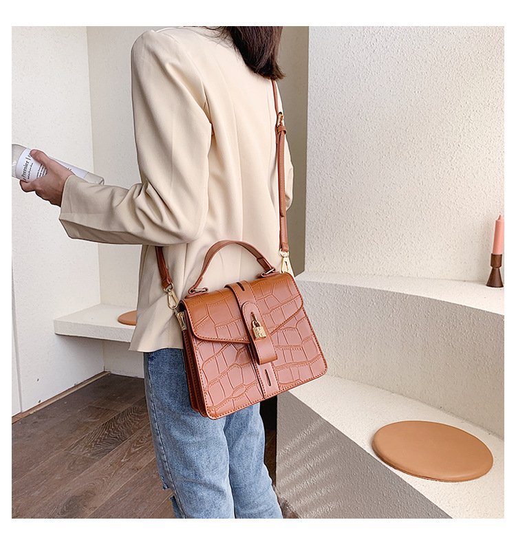 Korean version of the foreign gas portable stone pattern shoulder bag NHTC156314