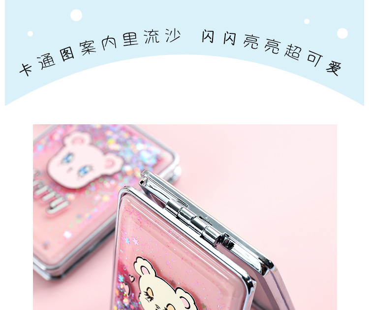 Creative cute double-sided folding trumpet makeup mirror NHHE157627