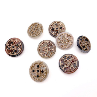Factory direct metal buttons 2019 new autumn and winter combination buttons with foot buttons high-end coat buttons