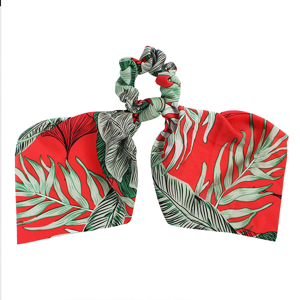 New Fashion Banana Leaf Ribbon Print Scarf Square Scarf Cheap Hair Circle Wholesale NHDM205037