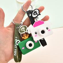 创意可爱迷你相机挂件 pvc软胶汽车钥匙扣包包服装配饰活动小礼品