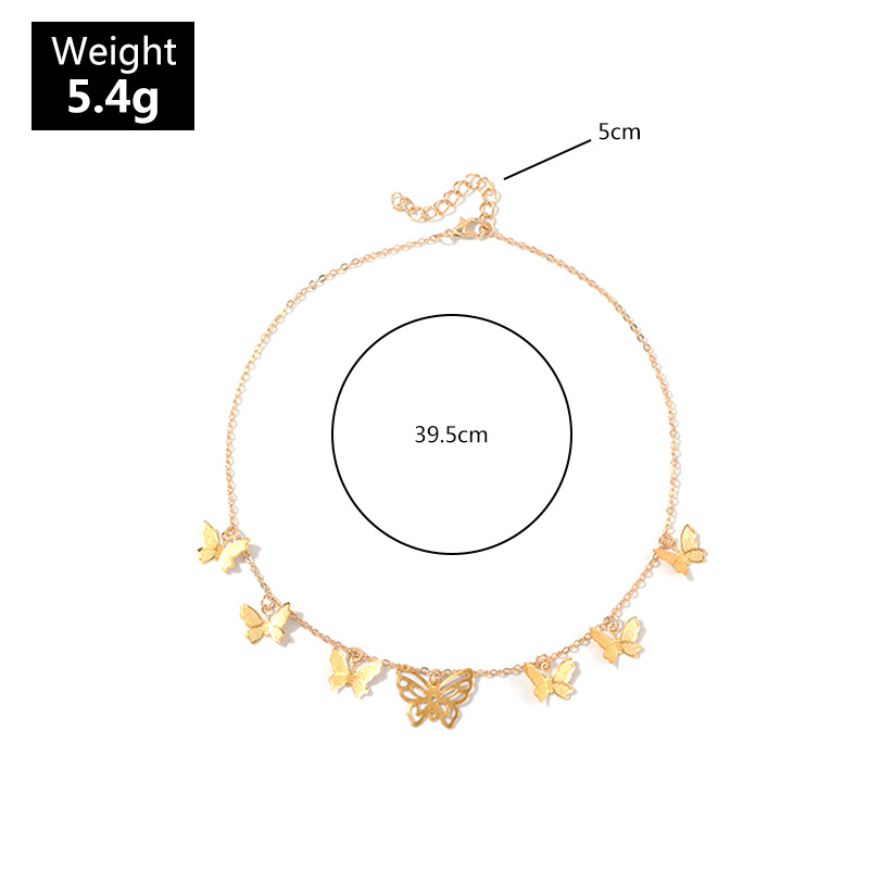 New creative butterfly necklace exquisite fashion pendant clavicle chain wholesale NHNZ180828