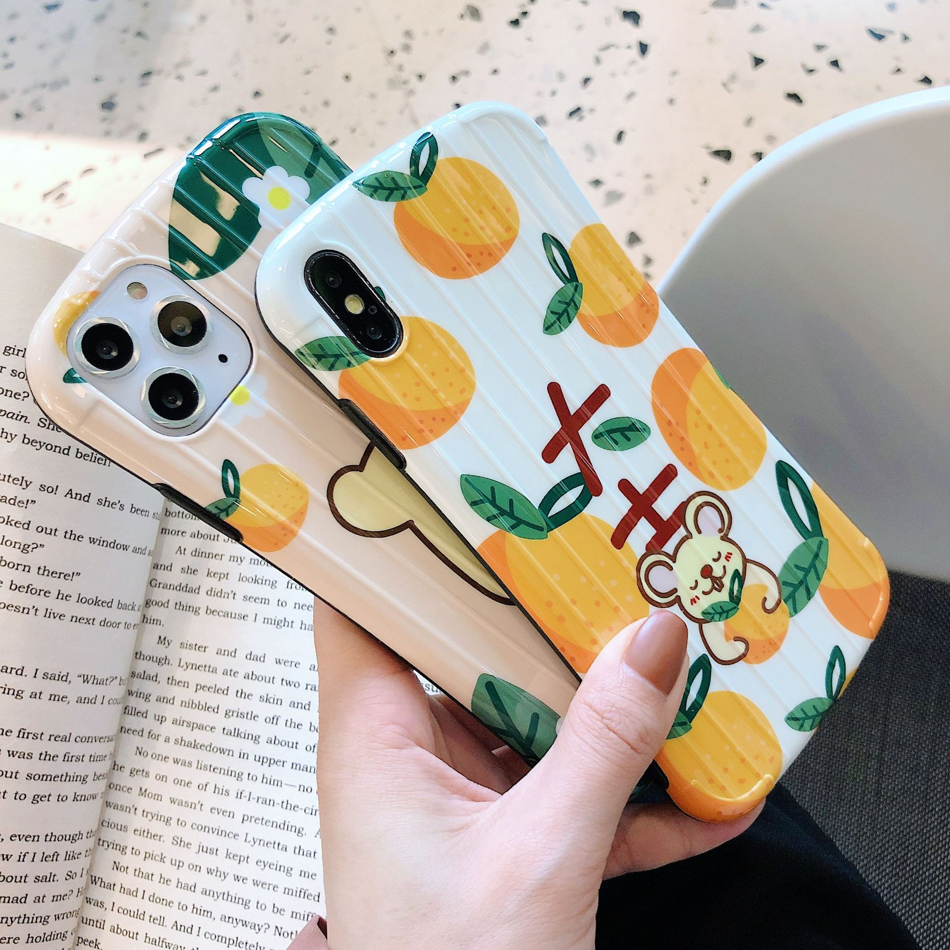 Cute little mouse 11promax cartoon apple 8plus mobile phone case for iPhone X glossy XRsoft NHHC196822