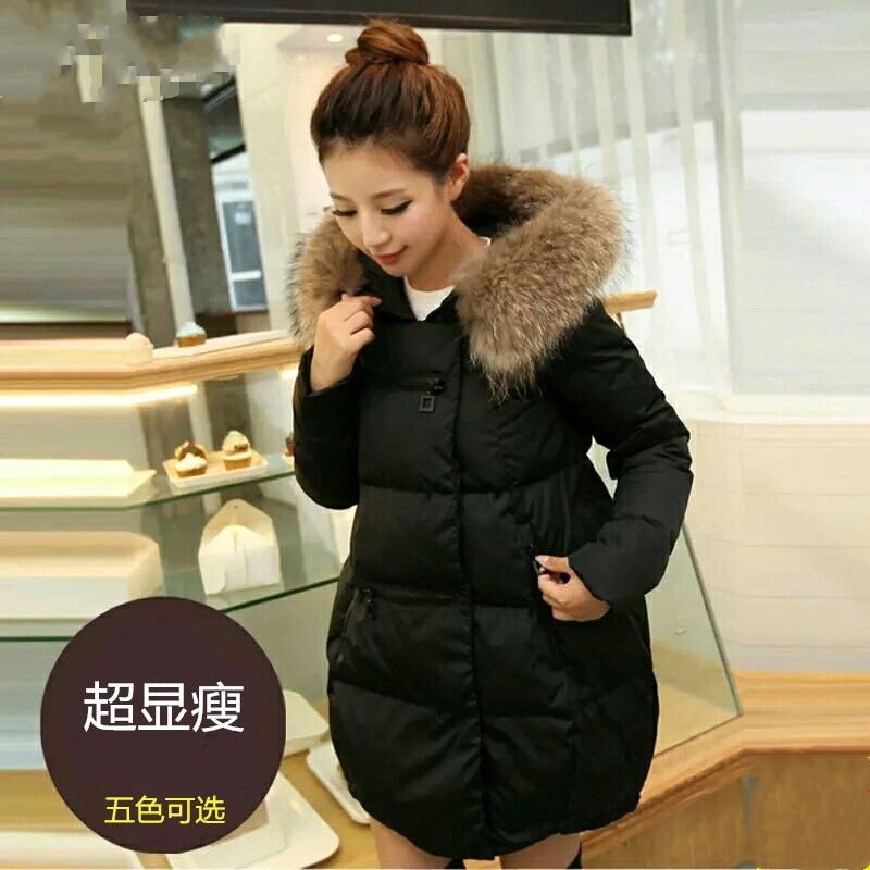 2020冬装新款韩版宽松大毛领棉衣女中长款加厚羽绒棉服女士外套潮