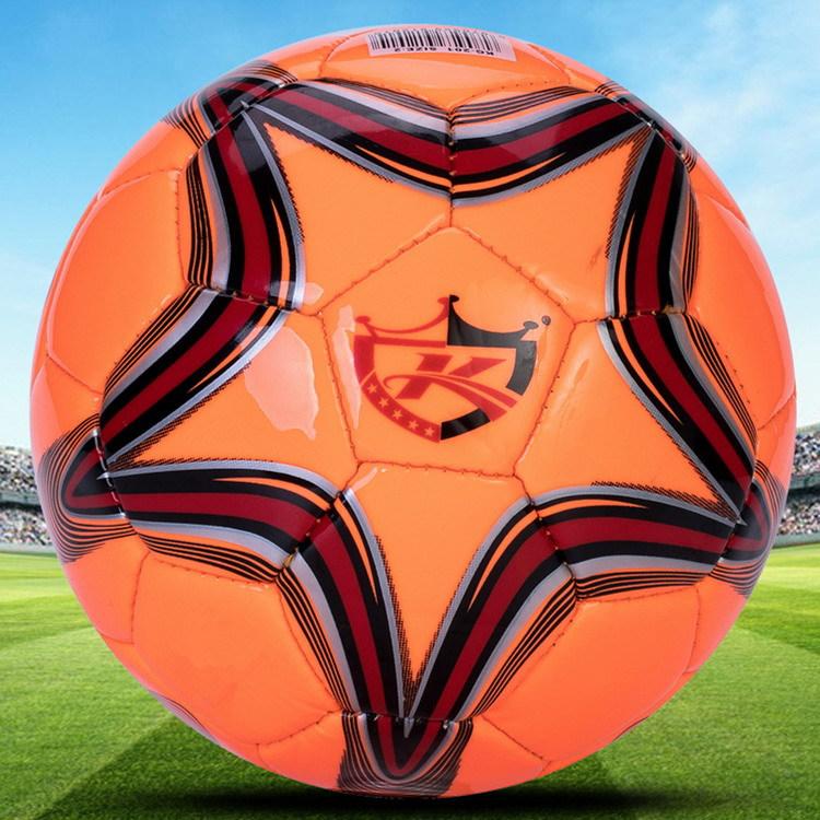 凯冠正品爆款大五角星5号成人训练比赛足球3号4号儿童PU足球出口