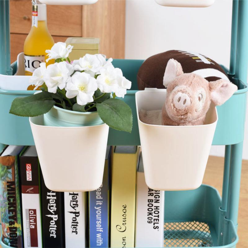 挂篮推车苏纳思小挂桶便携式收纳家用盛具厨房餐具杂物塑料盒