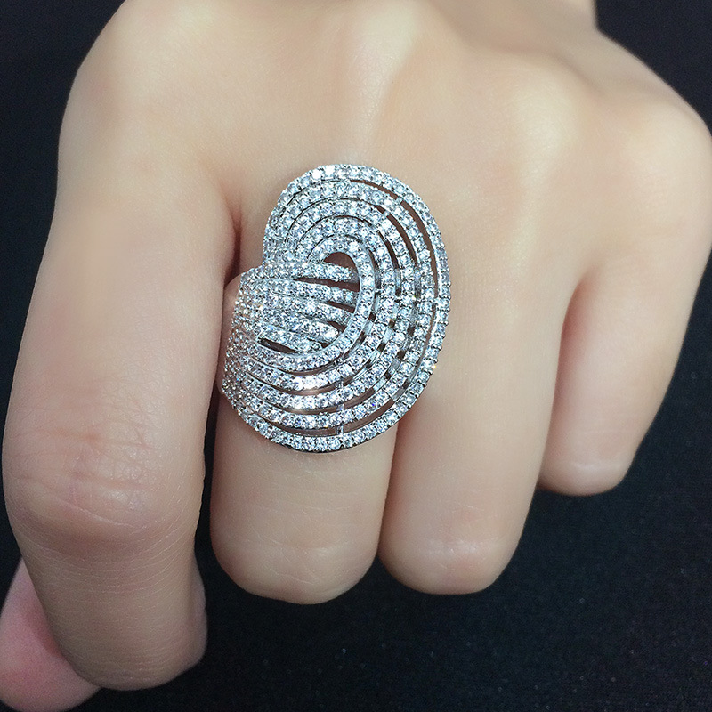 Copper Simple Geometric Ring  (Alloy-7)  Fine Jewelry NHAS0400-Alloy-7