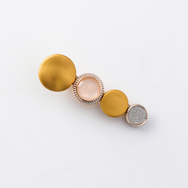 Simple disc side clip back of the head of the elegant word clip hair accessories NHMS151345