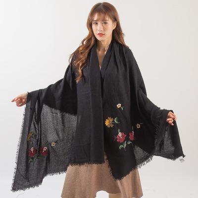 欧美Aamzon新款大尺寸仿羊绒印花围巾外贸梭织披肩厂家批发定制