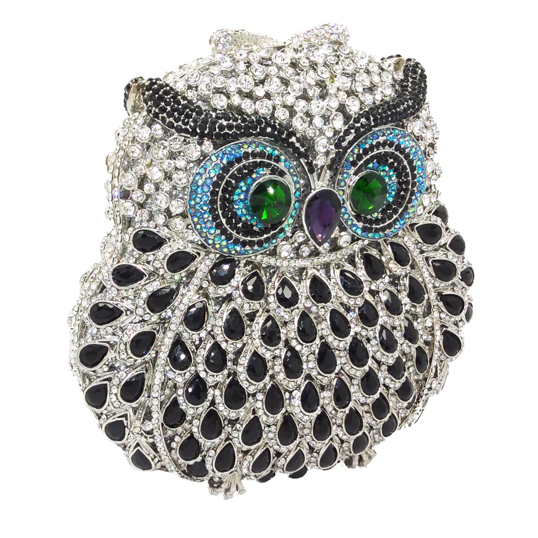 Fashion women's bag new fashion party clutch bag animal owl dinner bag rhinestone women bag NHJU200505