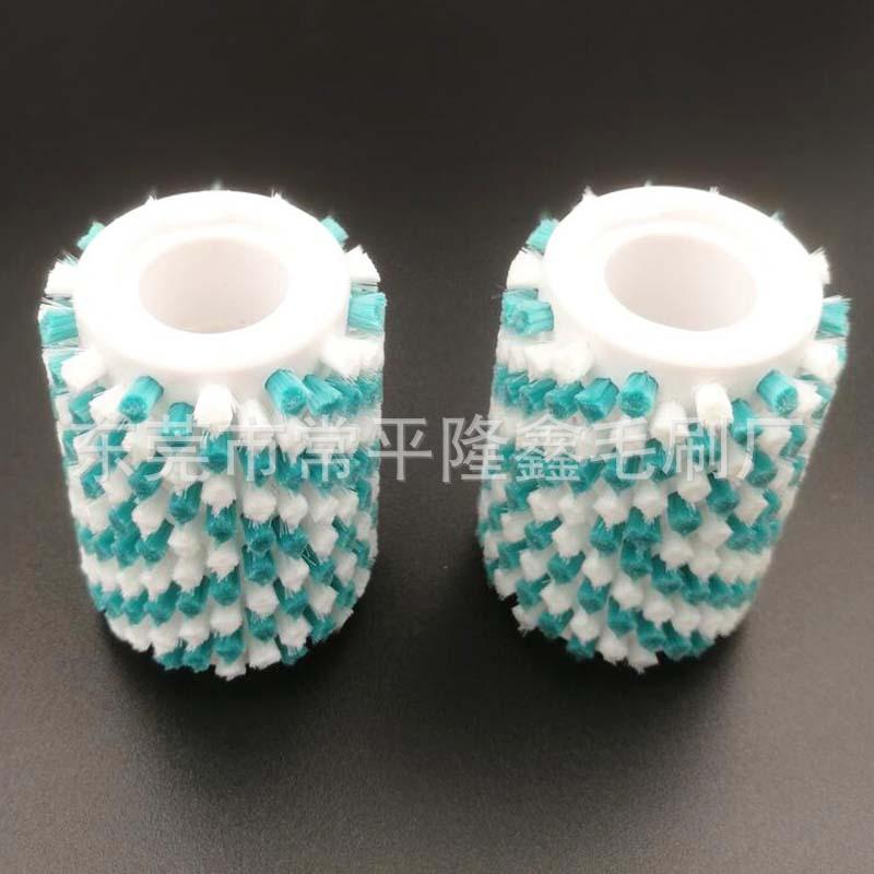 东莞毛刷厂定做工业磨脚器毛刷滚筒毛刷 钻孔植毛加工抛光毛刷