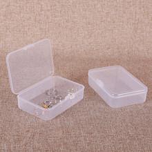 透明塑料带盖名片盒银行卡收纳盒随身便携迷你pp小盒子零件包装盒