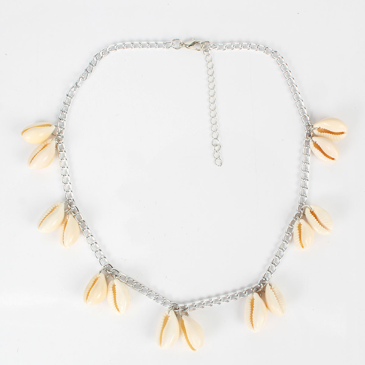 Bohemian natural shell necklace wild short clavicle chain women NHCT189827