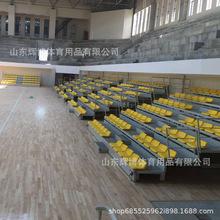 室內體育館低靠背電動伸縮看臺 場館學校看臺座椅 吹塑椅子