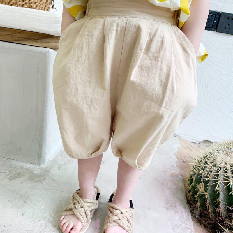 移步新店下单 联系客服2019女童装夏装新款韩版休闲儿童棉麻中裤