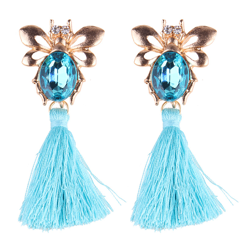 Womens Wave Hand-knitted Alloy Earrings NHJQ149059