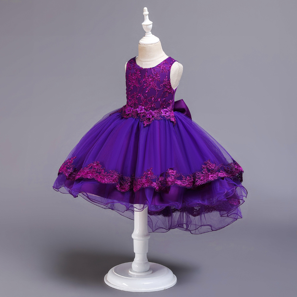 Children's dresses, girls' tails, catwalk, little host, costumes, flower girl wedding dresses NHTY198319