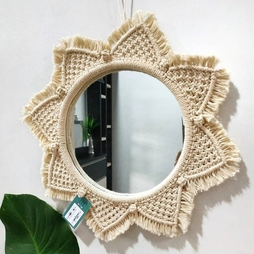 Nordic mirror handmade tapestry make-up mirro porch Hotel decoration wall hanging