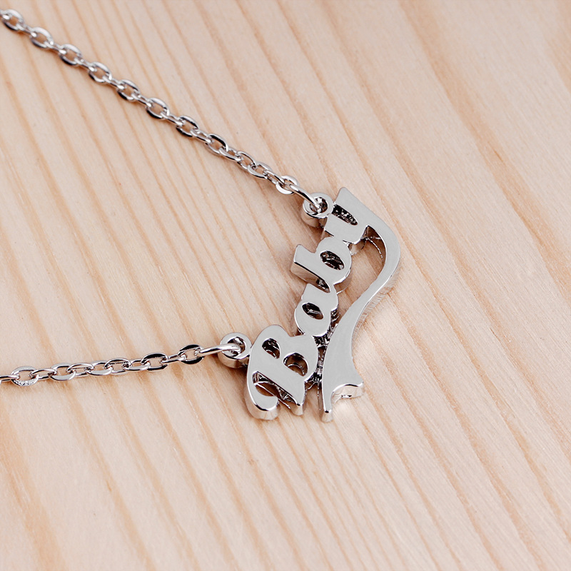 necklace clavicle chain simple personality letters Baby creative mothers day wholesale nihaojewelry NHCU232154