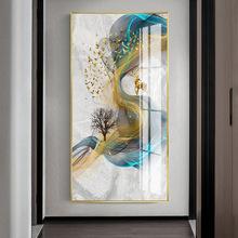 新中式玄关走廊装饰客厅轻奢北欧晶瓷画现代简约书房墙壁抽象?#19968;? class=