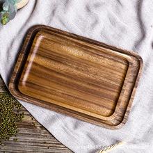 厂家直销相思木长方盘 木质茶盘餐盘收纳盘 酒店餐厅专用原木餐具