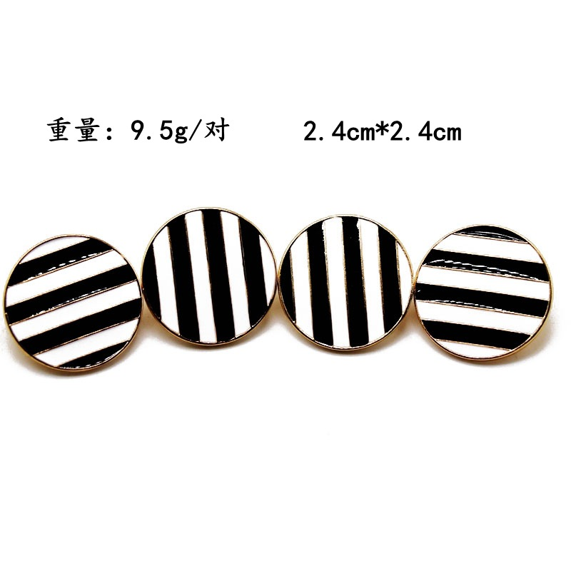 Round color drop oil color matching 925 silver needle stud earrings NHOM155161