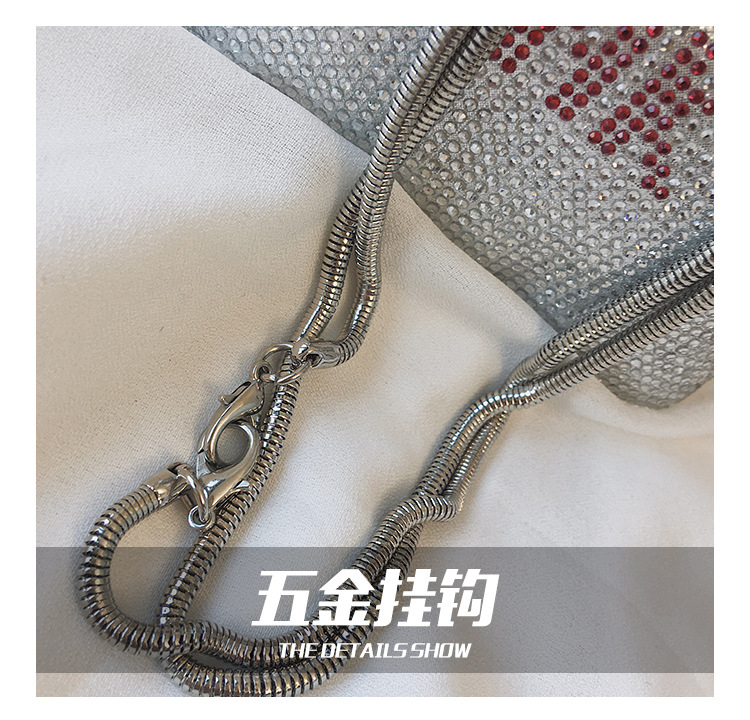 Women's bag new fashion rivet diamond letter shoulder bag shoulder bag NHPB178774