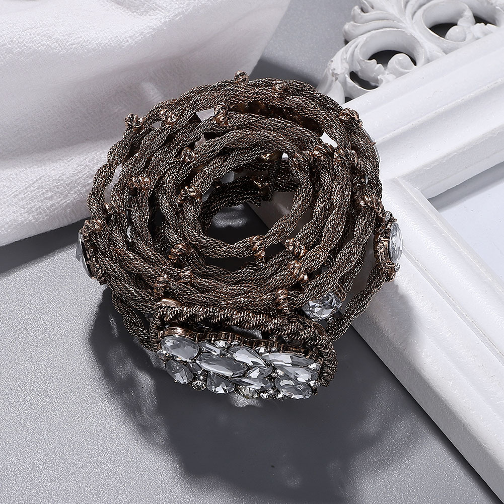 Alloy diamond belt fashion trend belt new clothing accessories NHJQ176197
