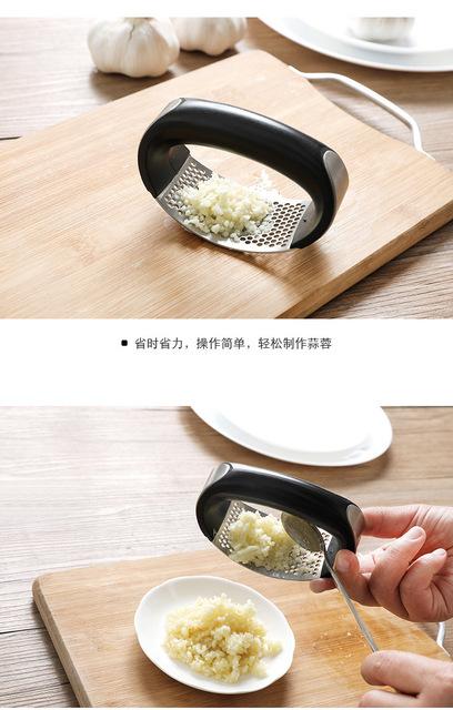 不锈钢压蒜器 家用手动捣蒜器厨房姜汁蒜蓉捣碎器蒜泥器