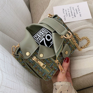 New wide shoulder strap diagonal cross small square bag simple fashion embroidery line shoulder bag NHPB170821